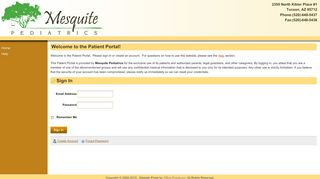 Mesquite Pediatrics Portal