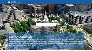 Michigan Gis Open Data Portal