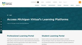 Michigan Virtual Student Learning Portal