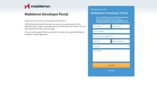 Mobileiron Developer Portal