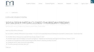 Mtda Student Portal