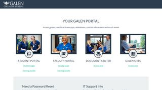 My Galen Portal Student Login
