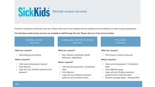 My Sickkids Login