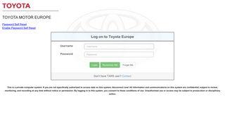 Mytechdoc Toyota Europe Com Login