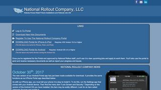 National Rollout Portal