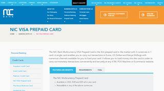 Nic Bank Prepaid Card Portal