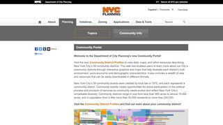 Nyc Community Districts Portal