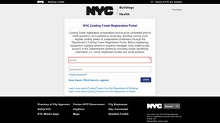 Nyc Cooling Tower Registration Portal