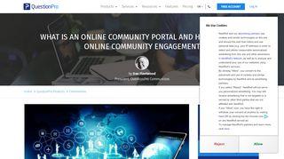 Online Community Portal