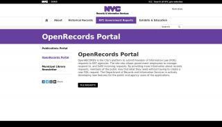 Open Records Portal