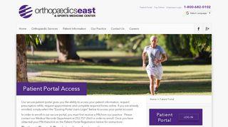 Orthopedics East Patient Portal