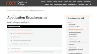 Oxy Application Portal