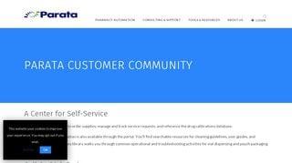 Parata Customer Portal