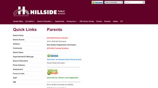 Parent Portal Hillside Nj
