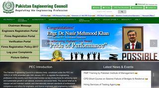 Pec Registration Portal