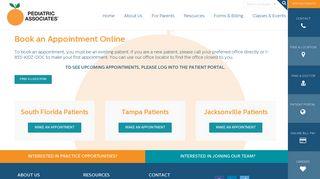 Pediatric Associates Appointment Portal