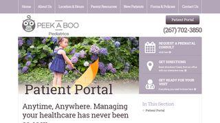 Peekaboo Pediatrics Portal