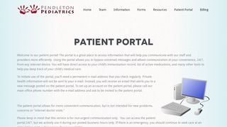 Pendleton Pediatrics Patient Portal