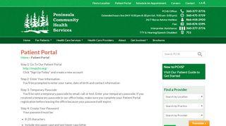 Peninsula Patient Portal