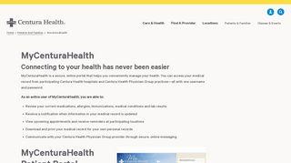 Penrose Hospital Patient Portal