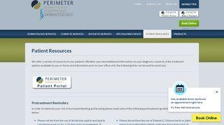 Perimeter Dermatology Patient Portal