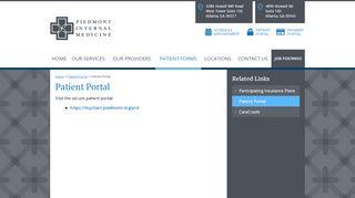 Piedmont Internal Medicine Patient Portal