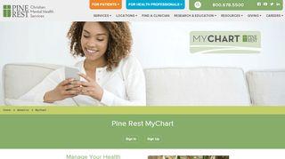 Pine Rest Patient Portal