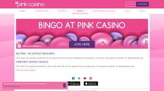 Pink Bingo Login