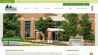Pinnacle Orthopedics Patient Portal