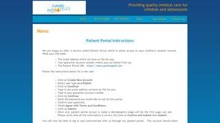 Pomona Pediatrics Patient Portal
