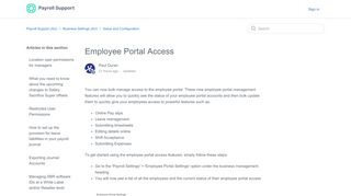 Portal Payroll Access