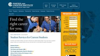 Porter And Chester Student Portal
