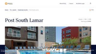 Post South Lamar Resident Portal
