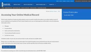 Prairie Lakes Patient Portal