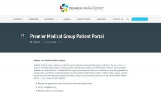 Premier Medical Group Port Charlotte Patient Portal