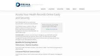 Prima Patient Portal