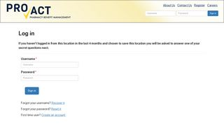 Proact Pharmacy Patient Portal