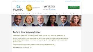 Psych Bc Patient Portal