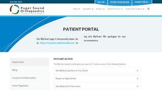 Puget Sound Orthopedics Patient Portal