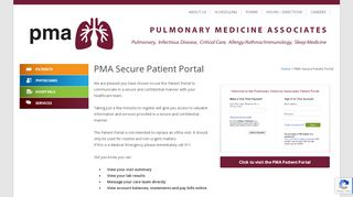 Pulmonary Medicine Associates Patient Portal