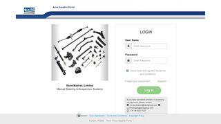 Rane Vendor Portal