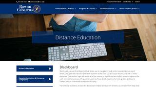 Rccc Blackboard Login Page