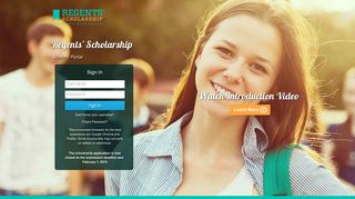 Regents Scholarship Student Portal