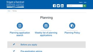 Reigate Planning Portal