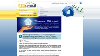 Reo Central Agent Login