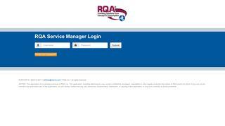 Rqa Service Manager Login