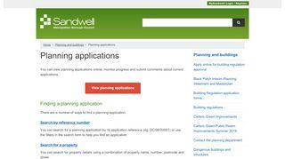 Sandwell Planning Portal