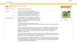 Sawgrass Pediatrics Portal