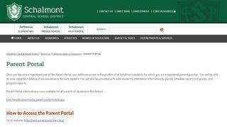Schalmont Parent Portal