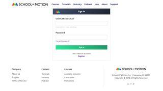 School Of Motion Student Portal